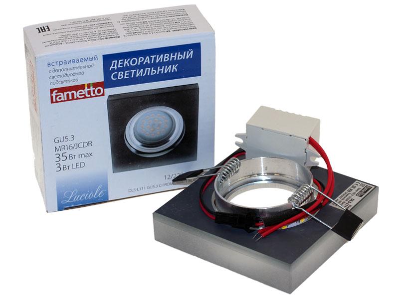 Св-к Fametto L111 LED хром/черный