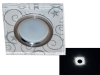 Св-к Fametto L203 LED  белый/серебро/хром Распродажа!