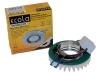 Св-к Ecola LED LD1661 MR16 стекло круг матовый стразы гребенка хром матовый