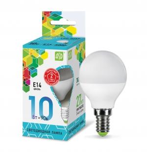 Лампа светодиодная ASD E14  10Вт шар standard 4000К 900Лм