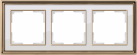 WERKEL Palacio Рамка на 3 поста (бронза/белый)