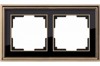 WERKEL Palacio Рамка на 2 поста (бронза/черный)