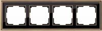 WERKEL Palacio Рамка на 4 поста (бронза/черный)