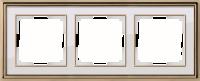 WERKEL Palacio Рамка на 3 поста (золото/белый)