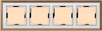 WERKEL Palacio Рамка на 4 поста (золото/белый)