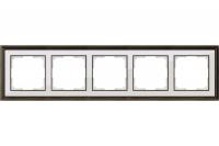 WERKEL Palacio Рамка на 5 постов (золото/белый)