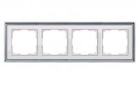 WERKEL Palacio Рамка на 4 поста (хром/белый)