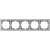 WERKEL METALLIC Рамка на 5 постов (глянцевый никель)