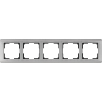 WERKEL METALLIC Рамка на 5 постов (глянцевый никель) WL02-Frame-05