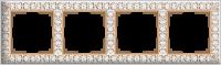 WERKEL ANTIK Рамка на 4 поста (белое золото)
