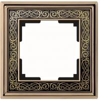 WERKEL Palacio Gracia Рамка на 1 пост (золото/черный) WL77-Frame-01