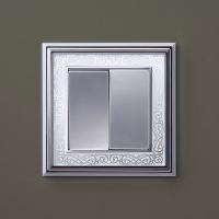 WERKEL Palacio Gracia Рамка на 1 пост (хром/белый) WL77-Frame-01