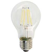Лампа светодиодная Ecola E27 10Вт А60 105x60 4000К Premium филамен.прозр