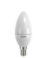 Лампа светодиодная General E14 5Вт свеча 450Лм 4500К