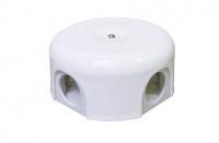 BIRONI белый пластик выкл. распр. коробка 110мм