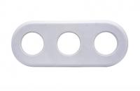 BIRONI белый пластик рамка 3мест.