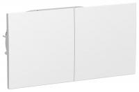SchE AtlasDesign белый розетка 2м. с/з з/ш сдвиж. крышки 16А