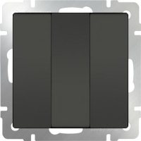 WERKEL Выключатель 3-кл. (серо-коричневый)