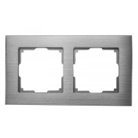 WERKEL Aluminium Рамка на 2 поста (алюминий)