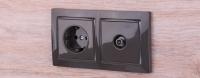 WERKEL Snabb Basic Рамка на 2 поста (серо-коричневый) WL03-Frame-02