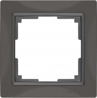 WERKEL Snabb Basic Рамка на 1 пост (серо-коричневый) WL03-Frame-01