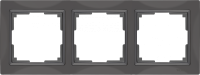 WERKEL Snabb Basic Рамка на 3 поста (серо-коричневый) WL03-Frame-03