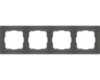 WERKEL Snabb Basic Рамка на 4 поста (серо-коричневый) WL03-Frame-04