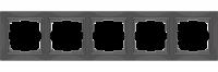 WERKEL Snabb Basic Рамка на 5 постов (серо-коричневый) WL03-Frame-05