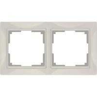 WERKEL Snabb Basic Рамка на 2 поста (слоновая кость) WL03-Frame-02