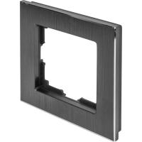 WERKEL Aluminium Рамка на 1 пост (черный алюминий)