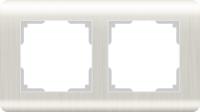 WERKEL Stream Рамка на 2 поста (перламутровый) WL12-Frame-02