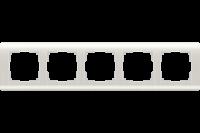 WERKEL Stream Рамка на 5 постов (перламутровый) WL12-Frame-05