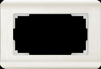 WERKEL Stream Рамка для двойной розетки (перламутровый) WL12-Frame-01-DBL