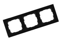WERKEL STARK Рамка на 3 поста (черный)
