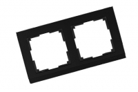 WERKEL STARK Рамка на 2 поста (черный) WL04-Frame-02