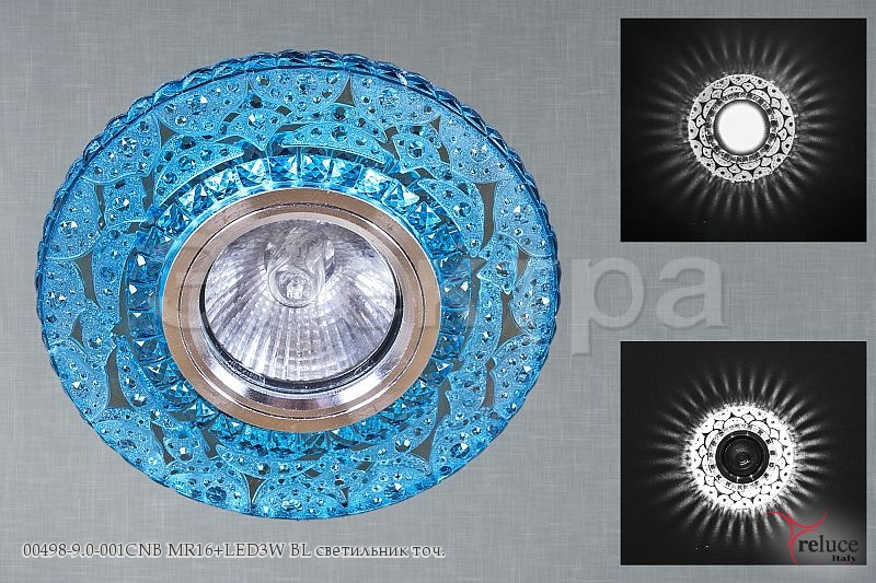 Св-к Электра 00498-9.0-001CNB MR16 + LED BL