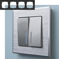 WERKEL Aluminium Рамка на 4 поста (алюминий)