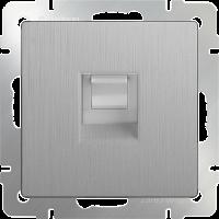 WERKEL Розетка телефонная RJ-11 (серебро рифленый)