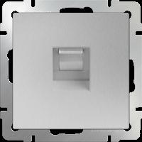 WERKEL Розетка Enternet RJ-45 (серебро рифленый)