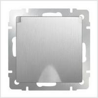 WERKEL Розетка влагозащит. с крышкой с/з, з/ш (серебро рифленый) WL09-SKGSC-01-IP44