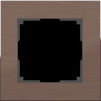 WERKEL Aluminium Рамка на 1 пост (коричневый алюминий) WL11-Frame-01