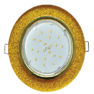 Светильник Ecola GX53 H4 стекло круг золото золотой блеск