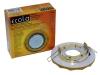 Светильник Ecola GX53 H4 стекло круг с вогнутыми гранями золотой блеск