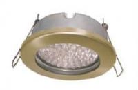 Светильник Ecola GX53 Н9 защищенный  золото