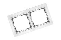 WERKEL SNABB Рамка на 2 поста (белая/хром) WL03-Frame-02