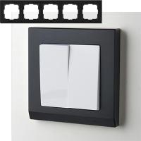 WERKEL STARK Рамка на 5 постов (черный) WL04-Frame-05