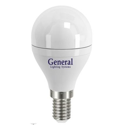 Лампа светодиодная General E14 8Вт G45 700Лм 4500К