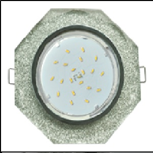 Светильник Ecola GX53 H4 стекло 8-угольник с прямыми гранями хром серебряный блеск