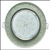 Светильник Ecola GX53 H4 стекло круг хром серебряный блеск