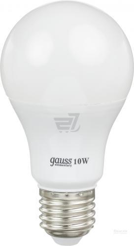Лампа светодиодная Gauss E27 10Вт A60 Elementary 2700К 880Лм